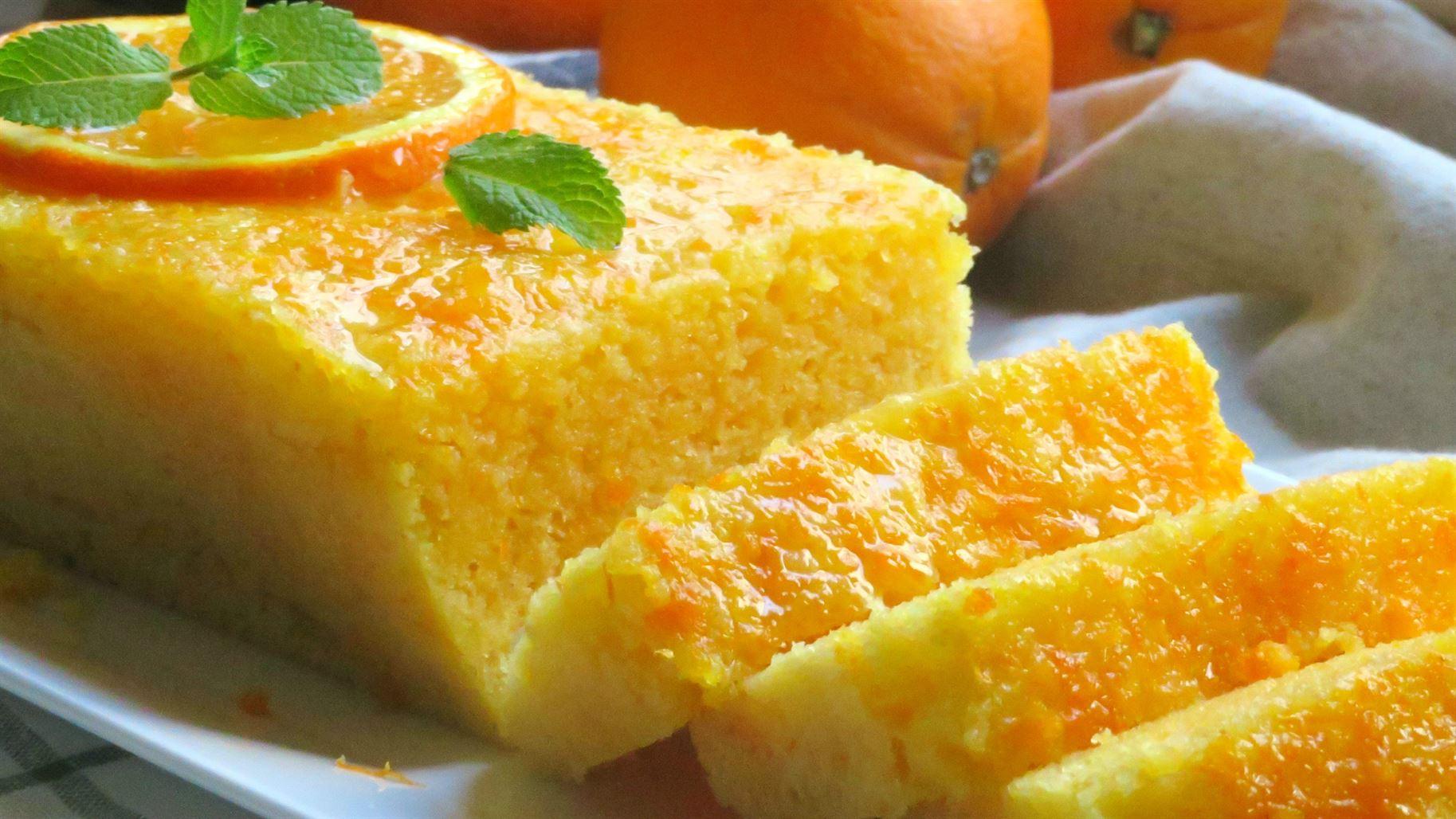 Bizcocho de naranja en 5 minutos