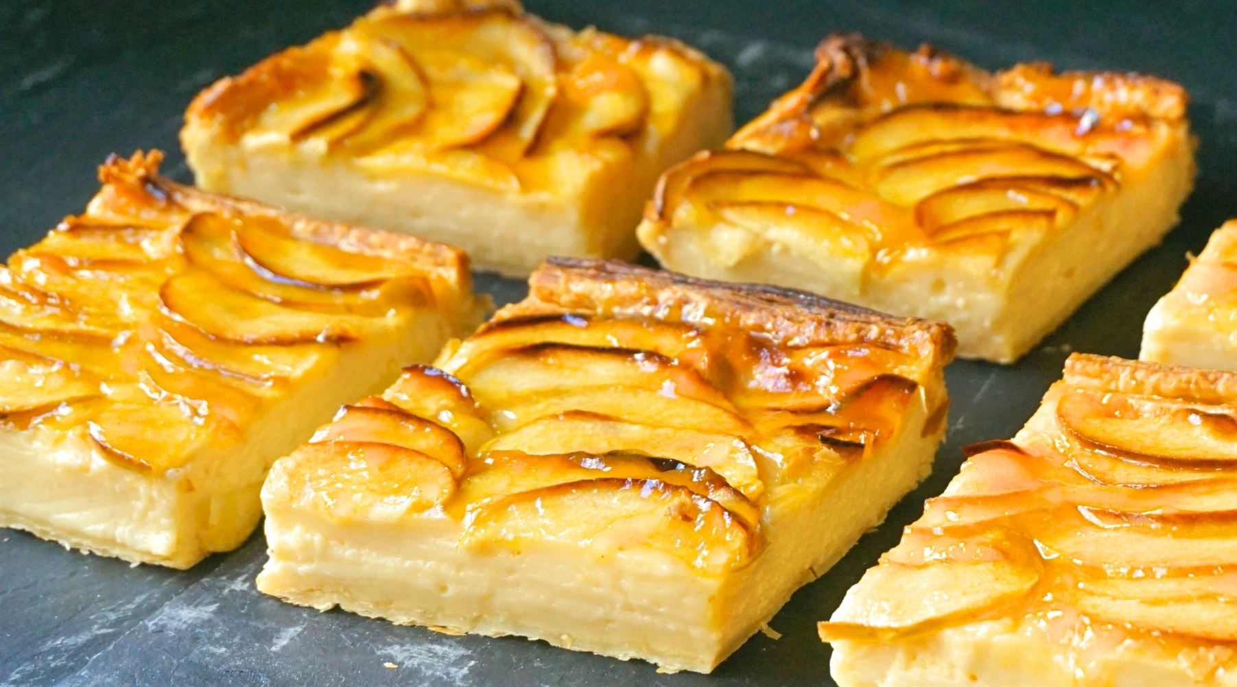 Tarta de manzana y crema MUY FÁCIL