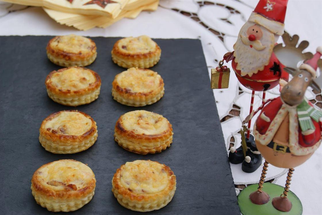 Tartaletas de hojaldre rellenas de jam n y gambas anna - Primeros platos faciles y originales ...