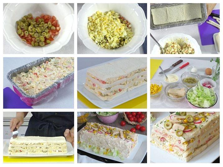 Preparación del pastel de atún frío