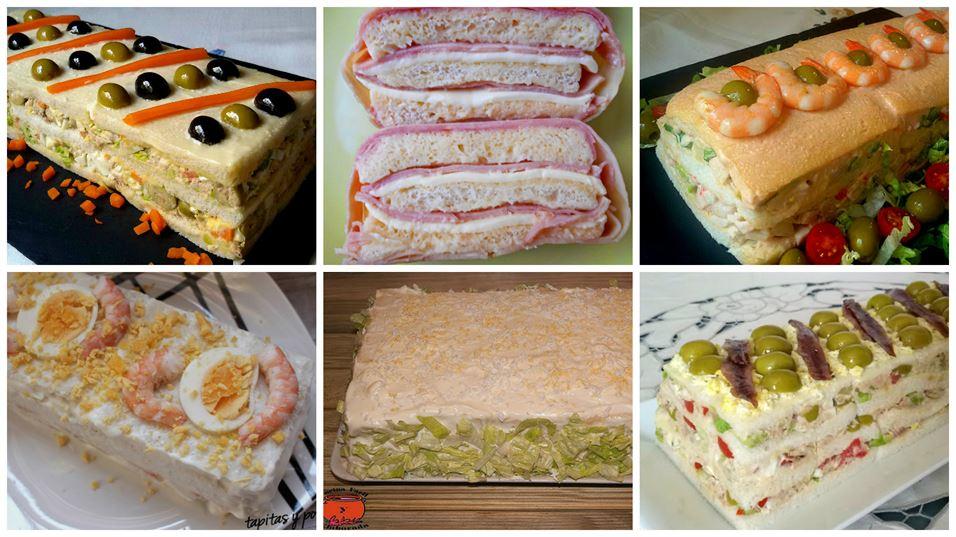 Pasteles salados con pan de molde