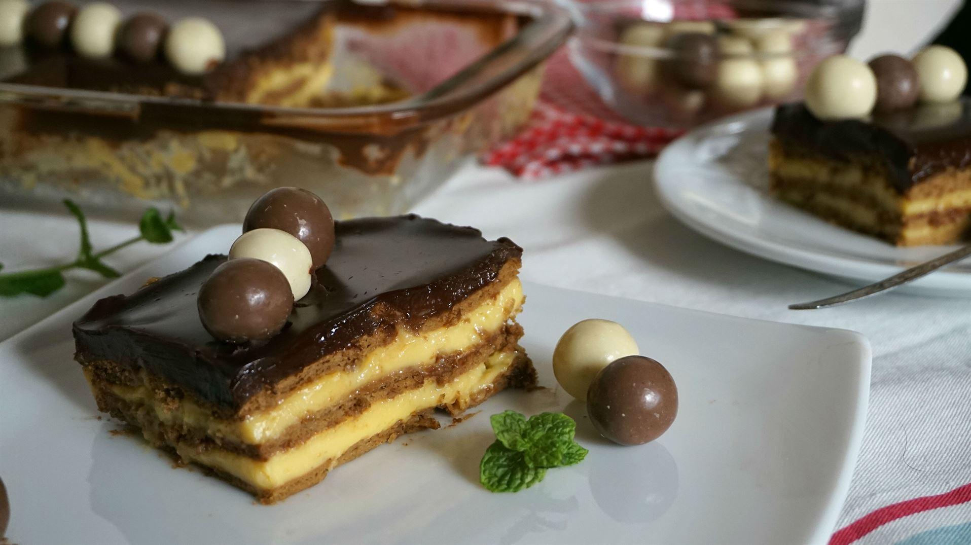Tarta de la abuela tarta de galletas con flan anna - La cocina dela abuela ...