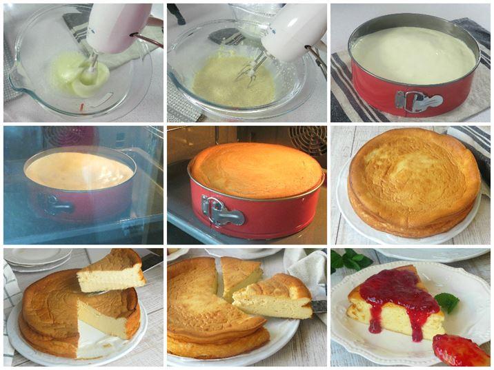 Prepación de la tarta de queso al horno