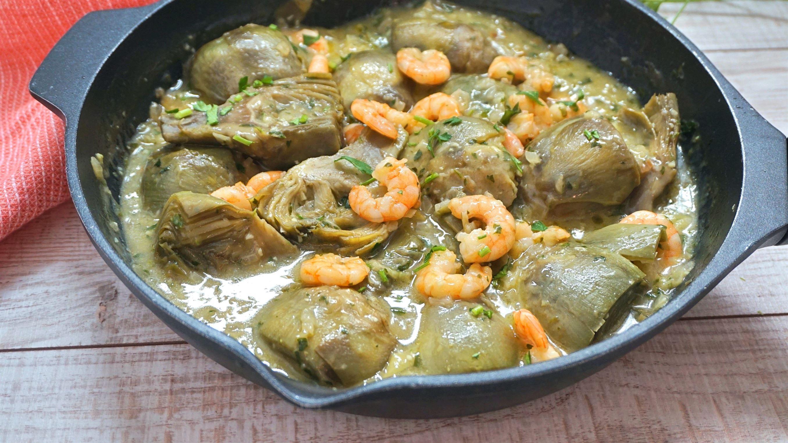 Alcachofas en salsa verde y TRUCO para que no se oxiden