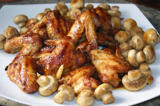 Alitas de pollo con salsa agridulce