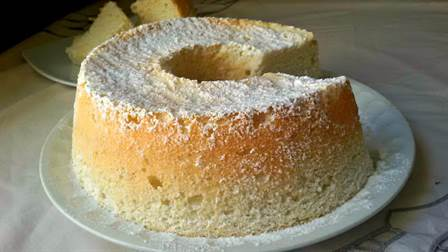 Angel food cake o bizcocho de ángel