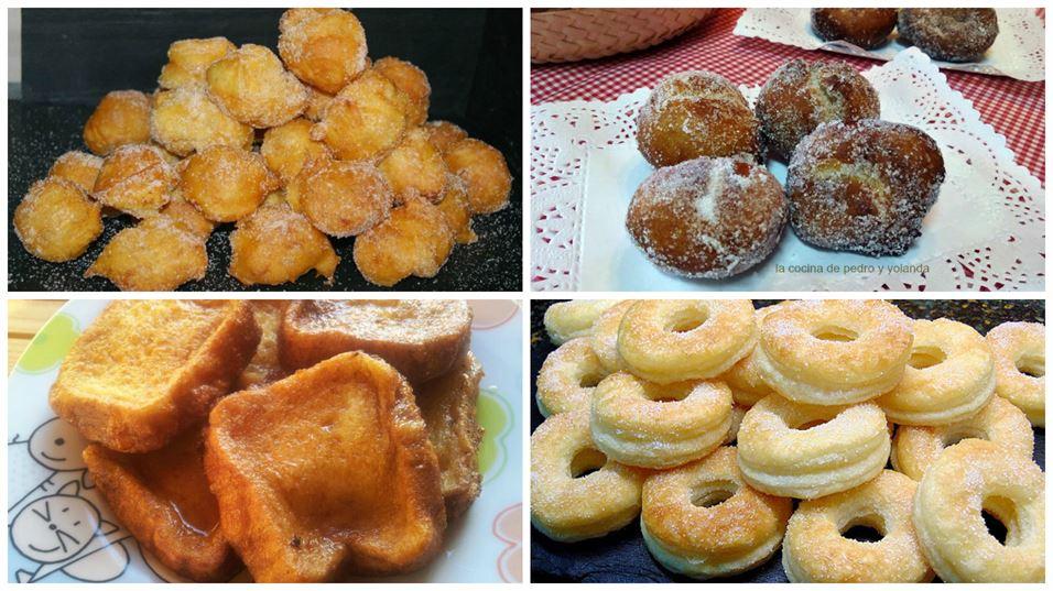 Postres tradicionales fáciles: buñuelos, rosquillas y torrijas