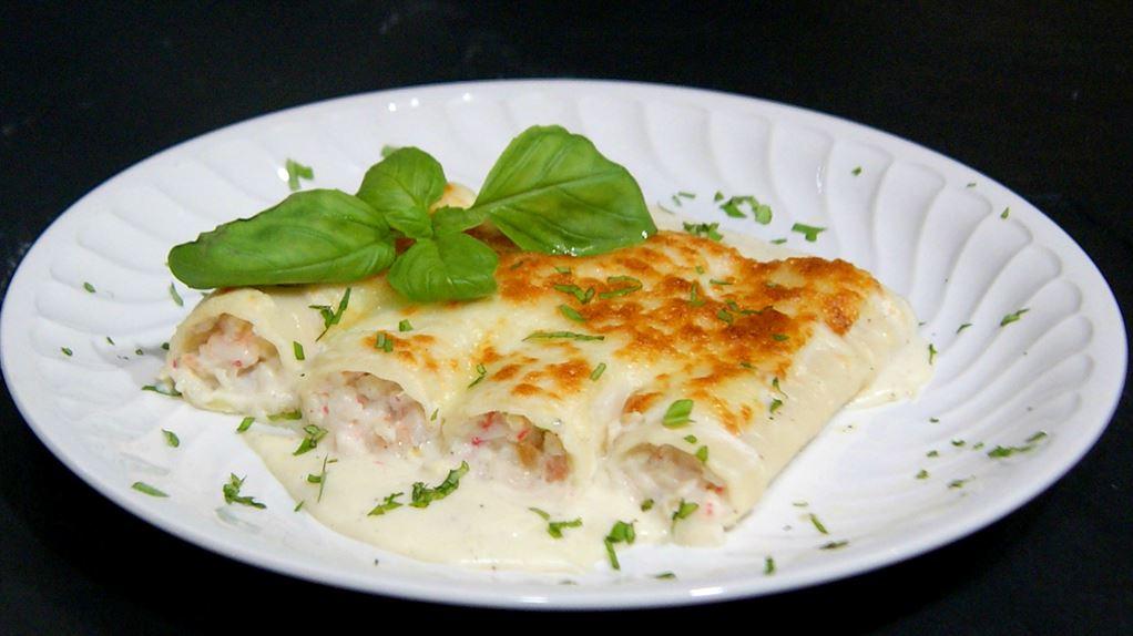 Canelones de marisco cocina for Canelones de pescado y marisco