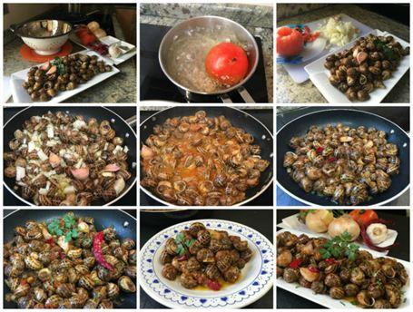 Como Cocinar Los Caracoles | Caracoles Picantes Anna Recetas Faciles