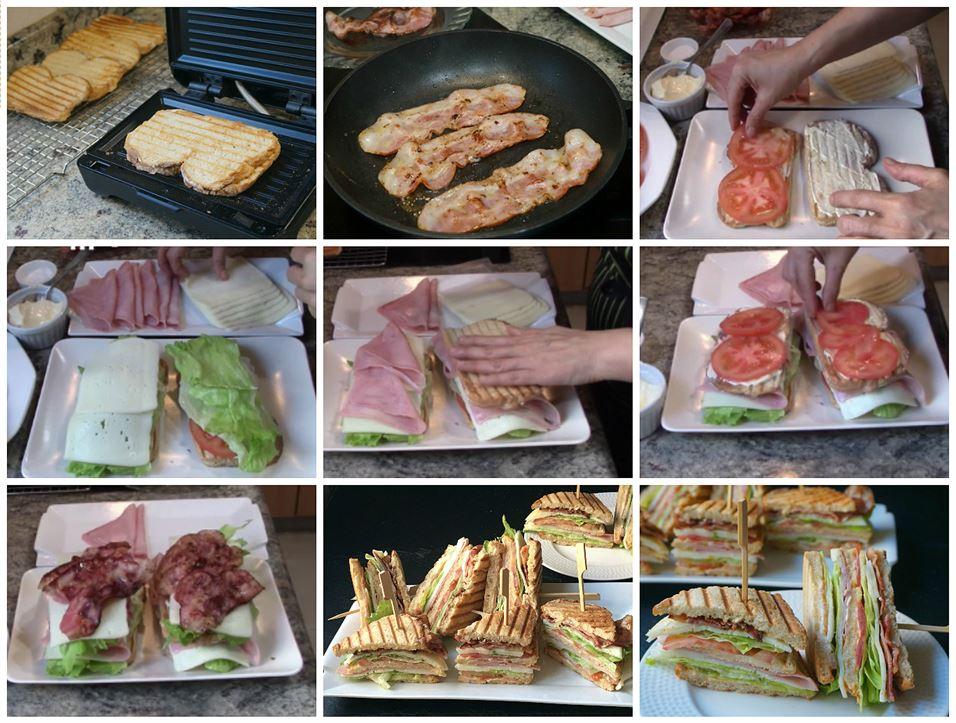 Preparación del club sándwich