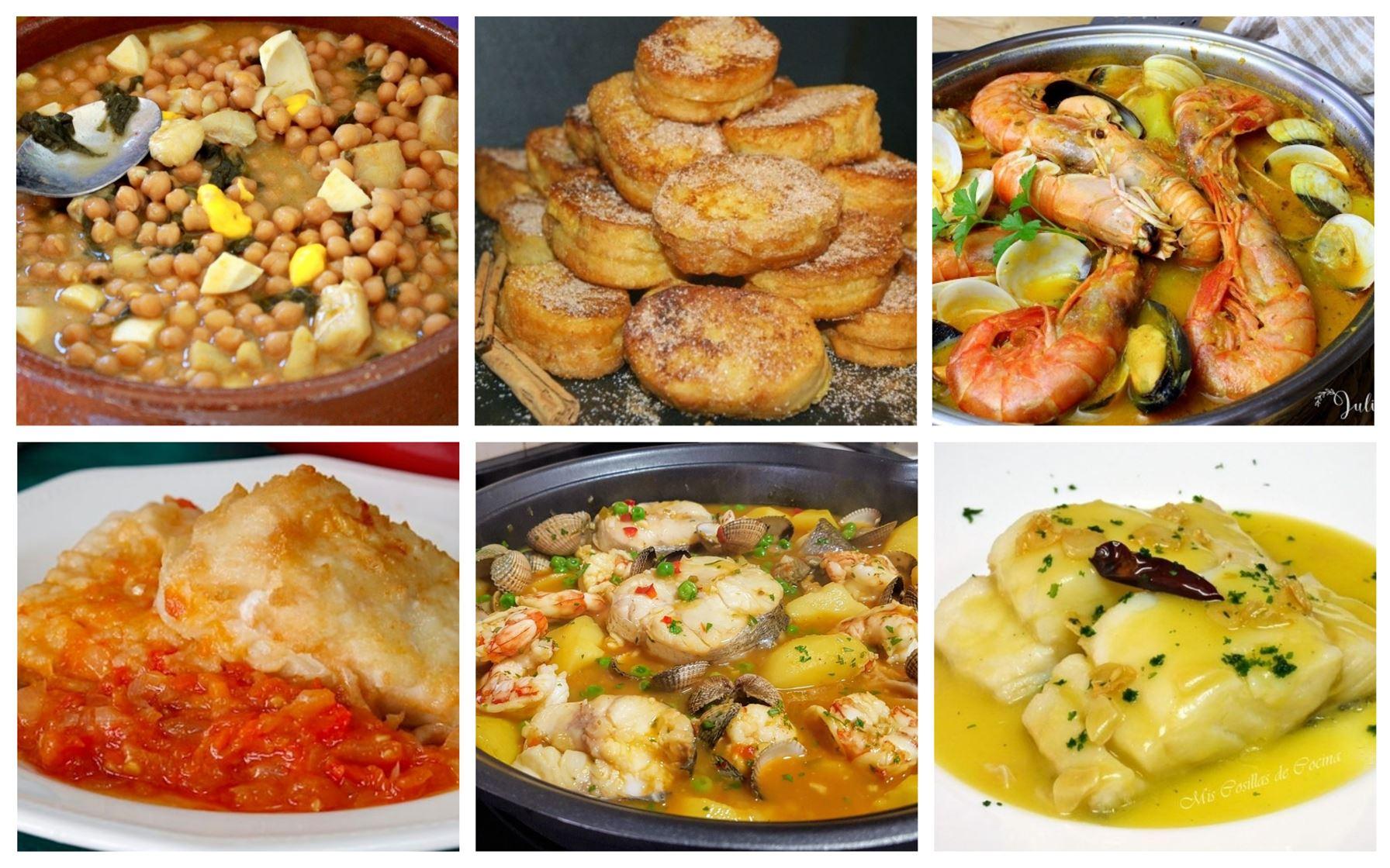 Menú de vigilia con deliciosas recetas