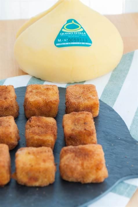 Croquetas de queso tetilla y boletus