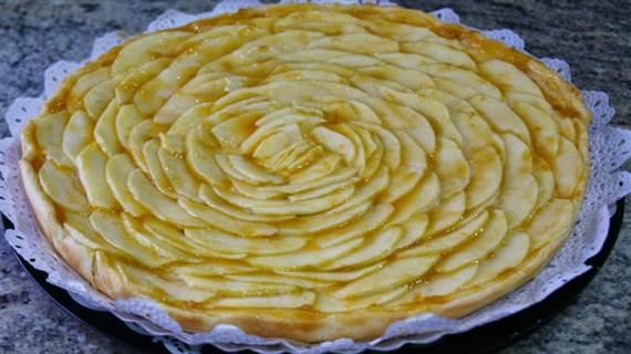 receta tarta de manzana casera facil