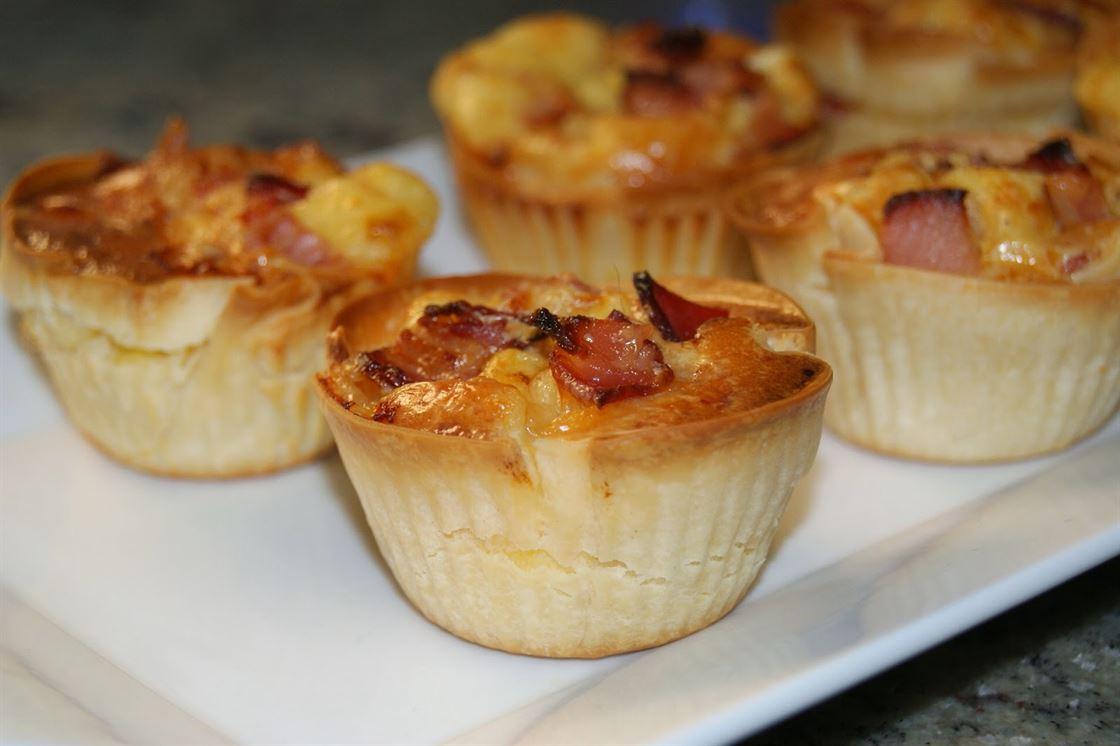 Miniquiche lorraine de bacon anna recetas f ciles for Entradas francesas faciles