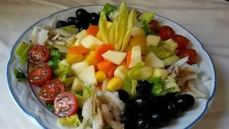 Ensalada vegana dos vinagretas con frutas anna recetas - Ensaladas gourmet faciles ...