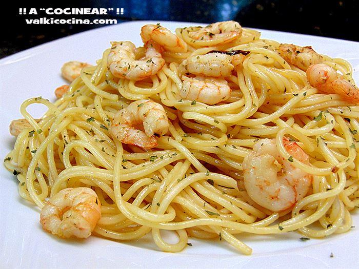 Espaguetis Con Gambas Al Ajillo Recetas Fáciles Que Me Gustan