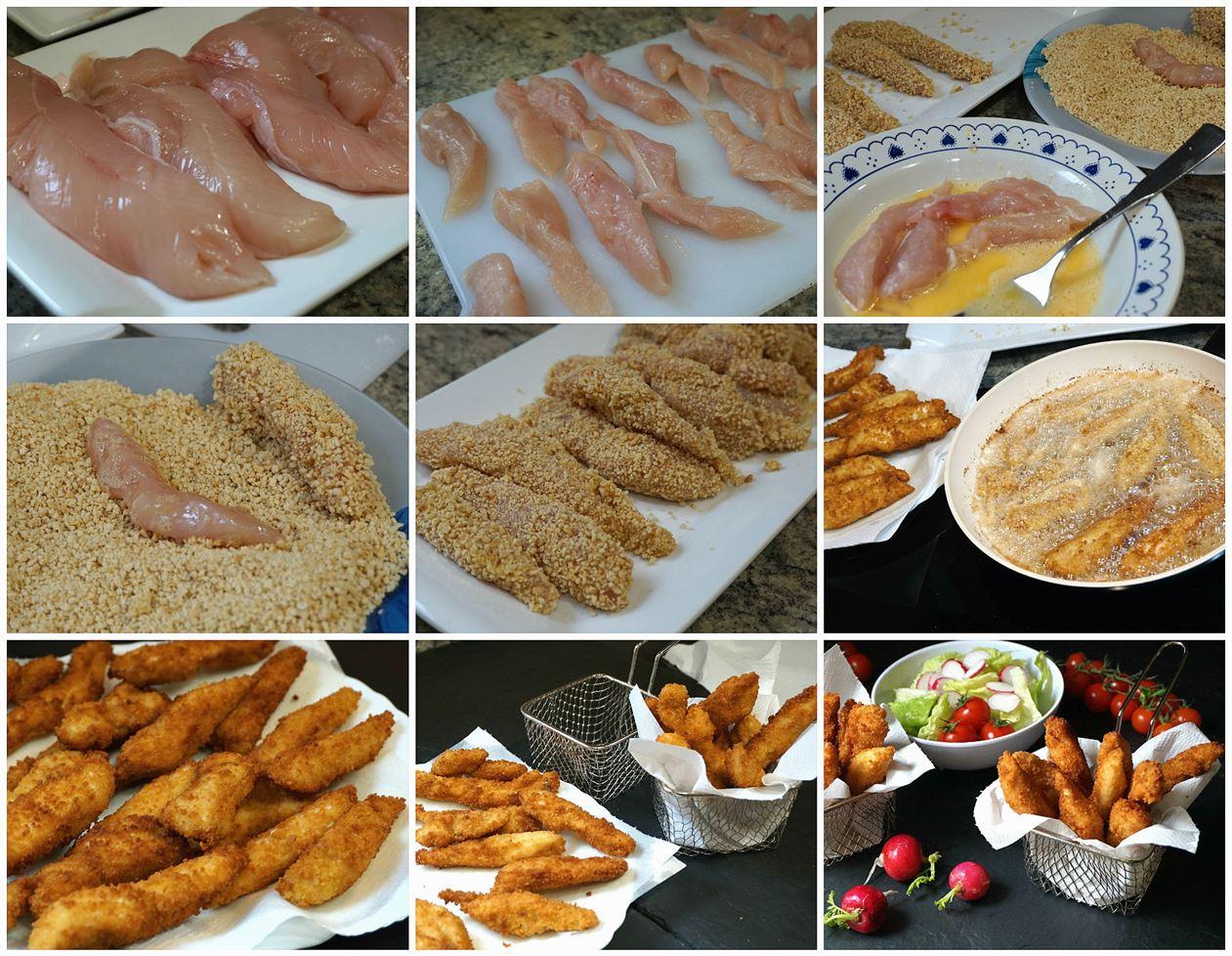 Preparación de los fingers de pollo