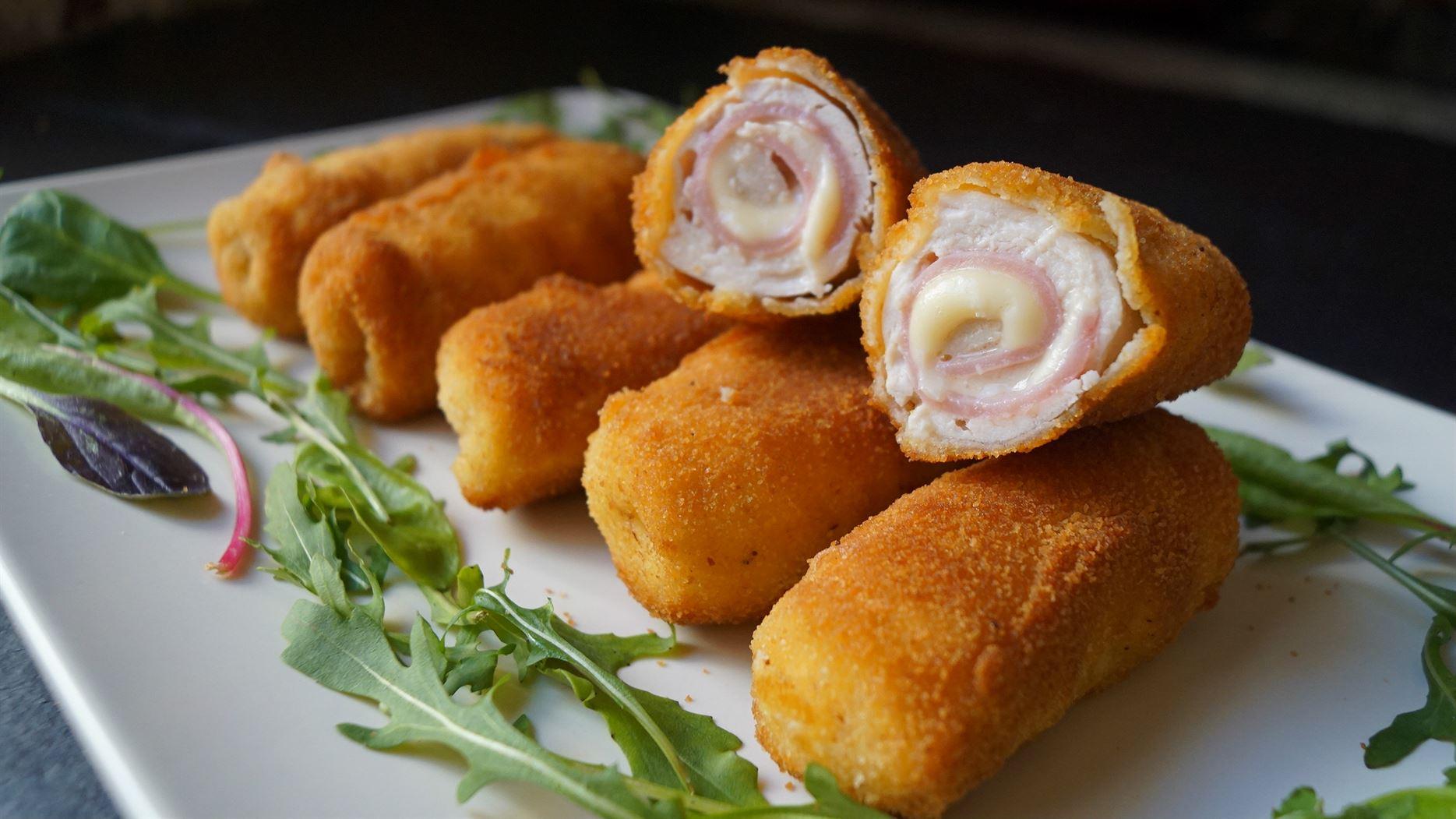Flamenquines de pollo jam n y queso anna recetas f ciles - Como hacer tapas faciles ...