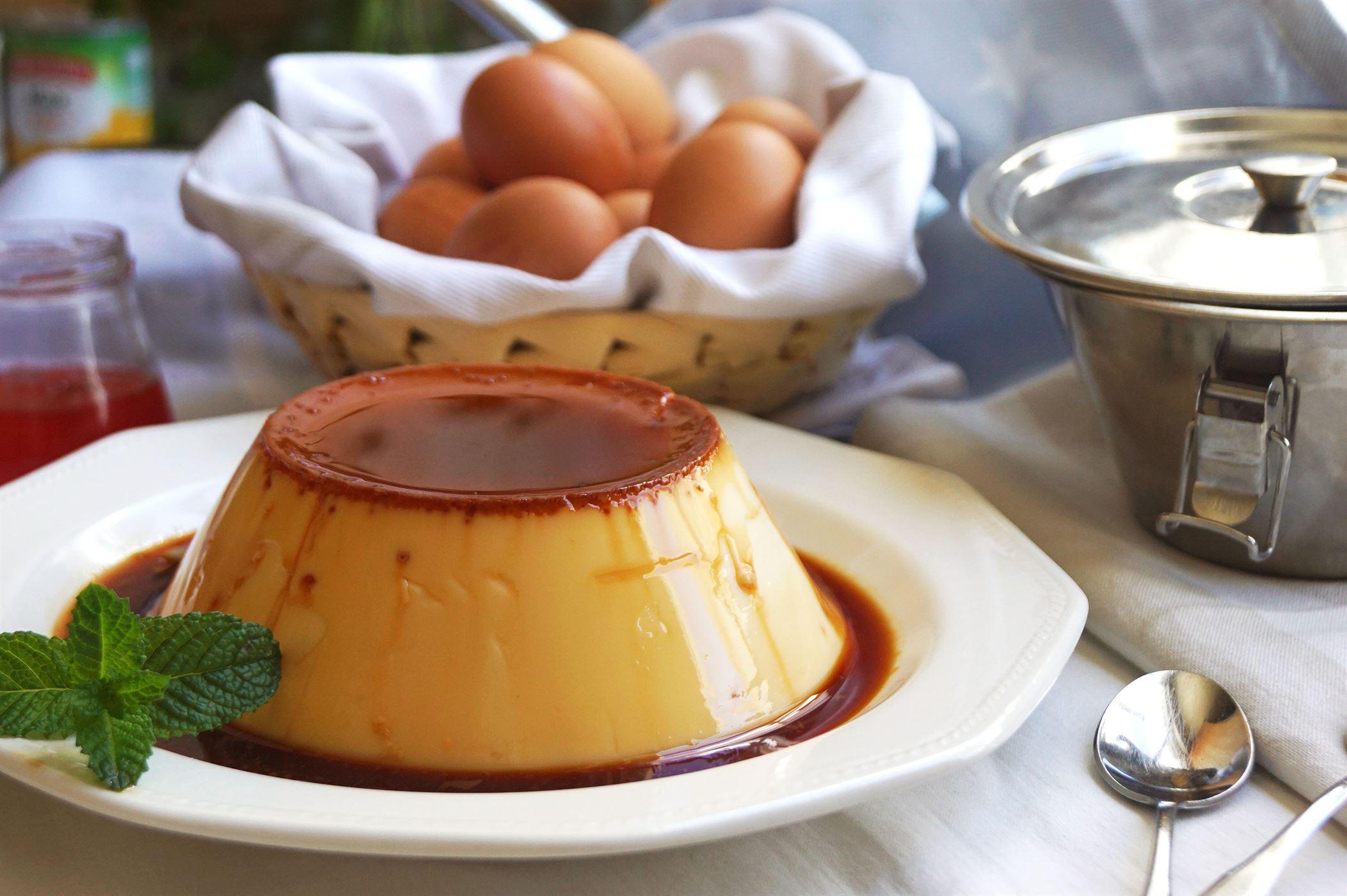 Flan de huevo fácil y rápido