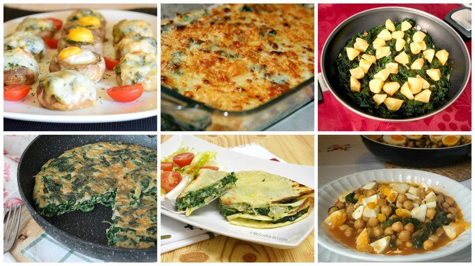 6 recetas con espinacas, fáciles y ricas