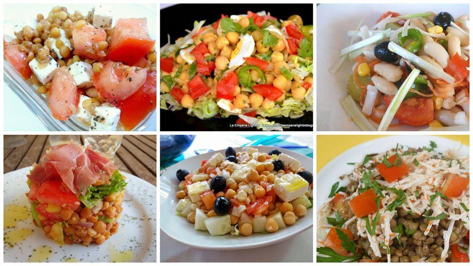 Recetas de ensaladas de legumbres