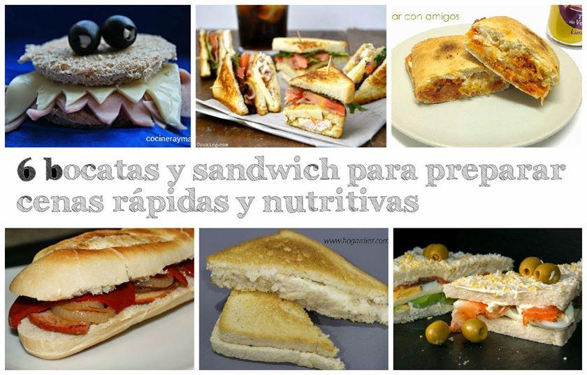 6 bocatas y sandwich para preparar cenas r pidas y for Cenas faciles
