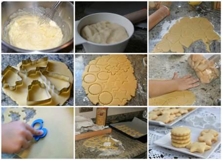 Preparación de las galletas de mantequilla