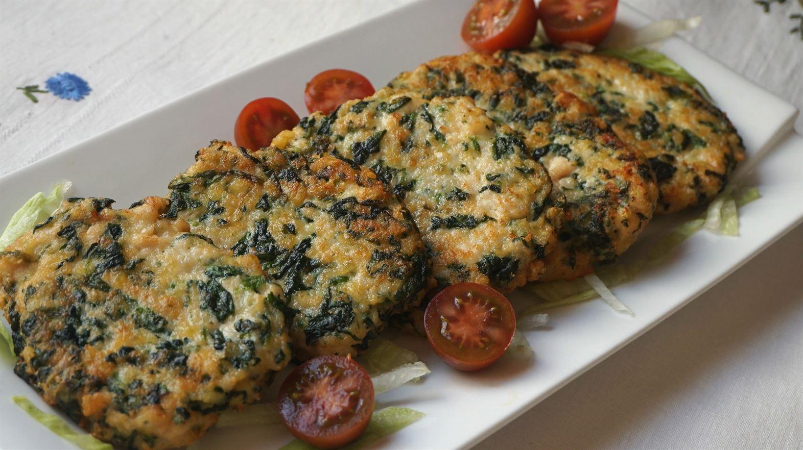 Hamburguesas de pollo con espinacas anna recetas f ciles - Platos rapidos y sencillos ...
