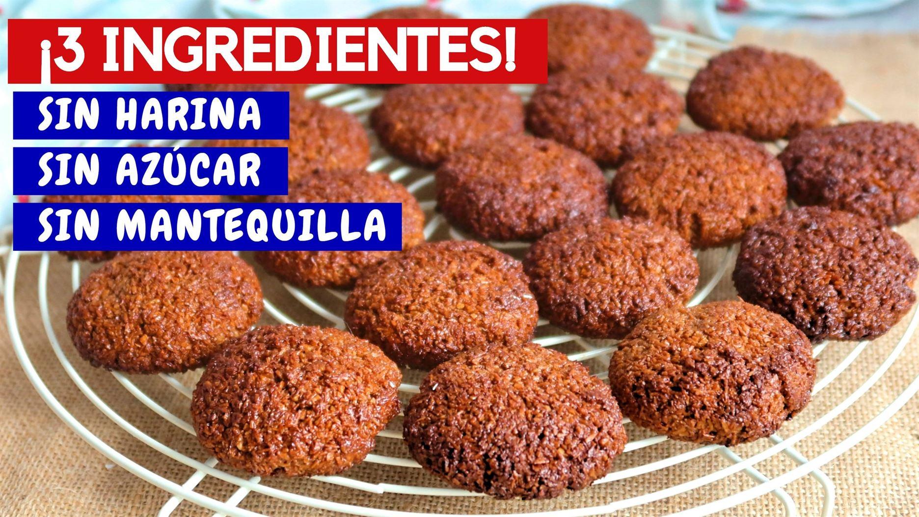 Galletas de chocolate blanditas con 3 ingredientes. SIN HARINA, SIN AZÚCAR, SIN MANTEQUILLA.