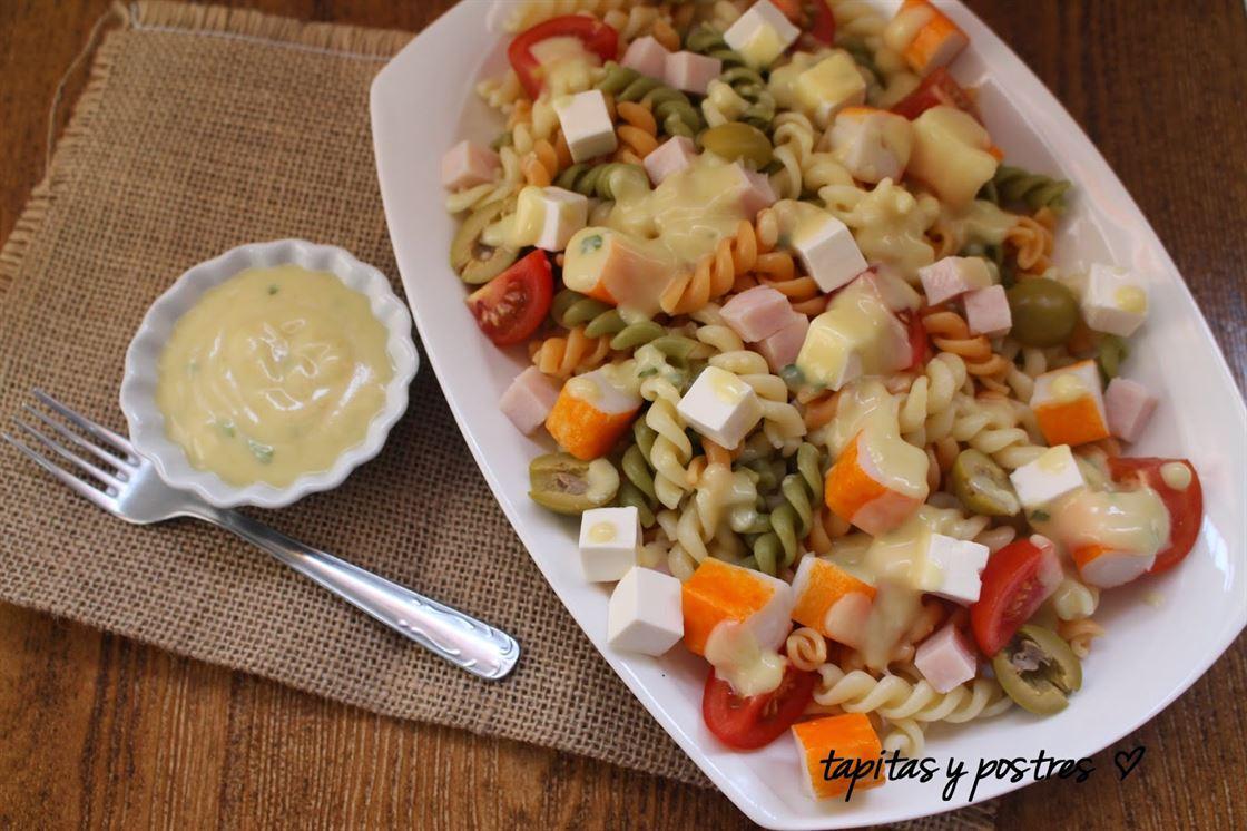 Ensalada tricolor de pasta
