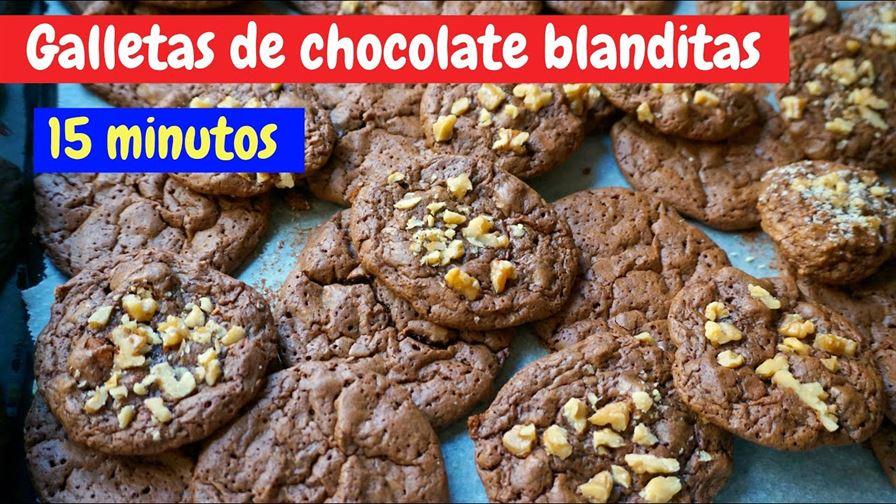 Galletas de chocolate blanditas en 15 minutos (brownie cookies)