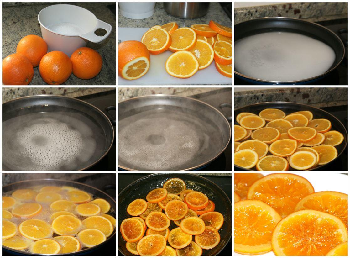 Naranja confitada. Preparación paso a paso.