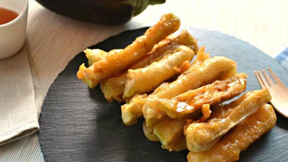 Resultado de imagen para receta de palitos de berenjena con miel