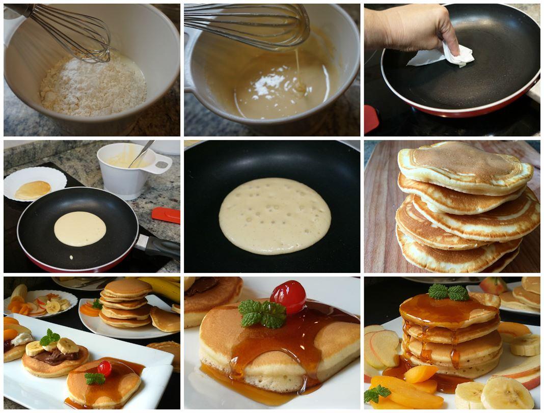 Preparación paso a paso de los pancakes o tortitas americanas