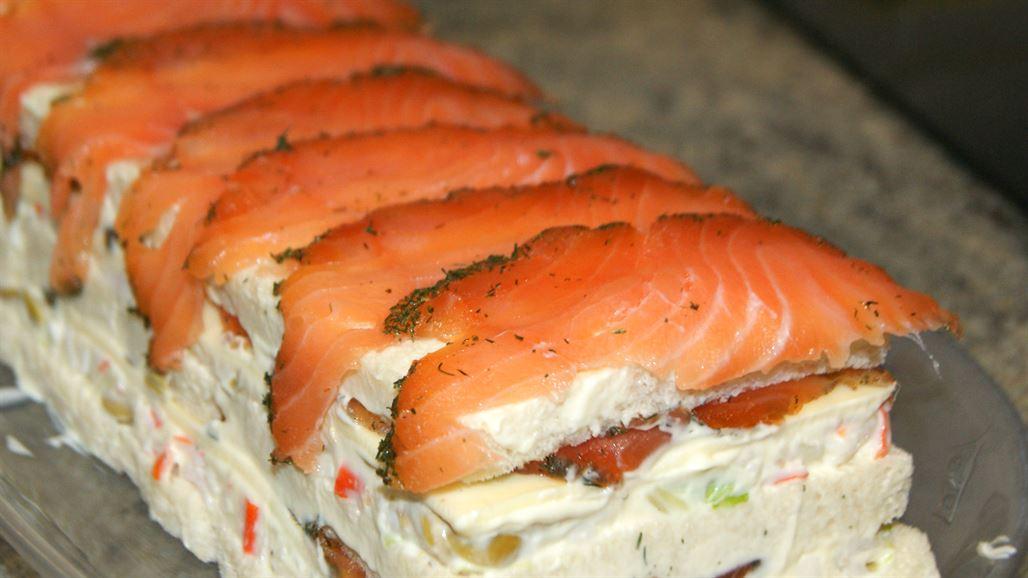 Pastel de verano con salmon