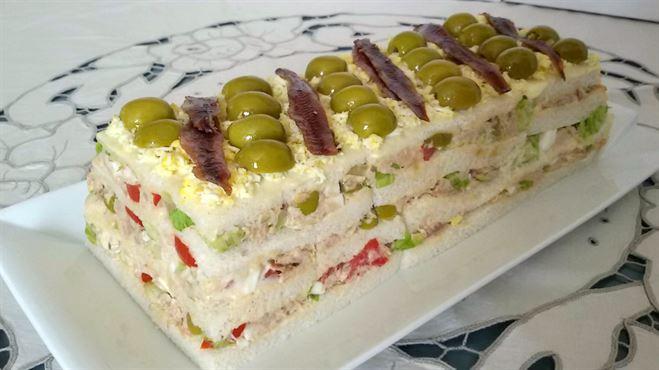 Pastel f cil de at n con pan de molde anna recetas f ciles - Ideas faciles para cenar ...