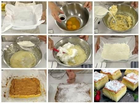 Preparación paso a paso del pastel inteligente