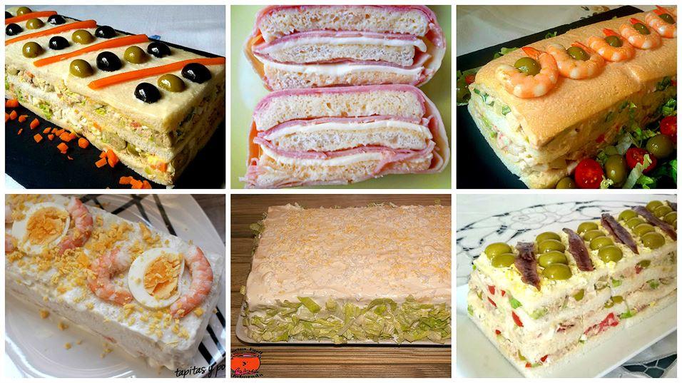 Pasteles con pan de molde