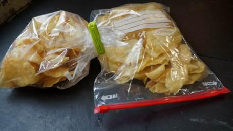 Conservaciión de las patatas chips