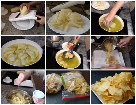 Preparación de las patatas chips