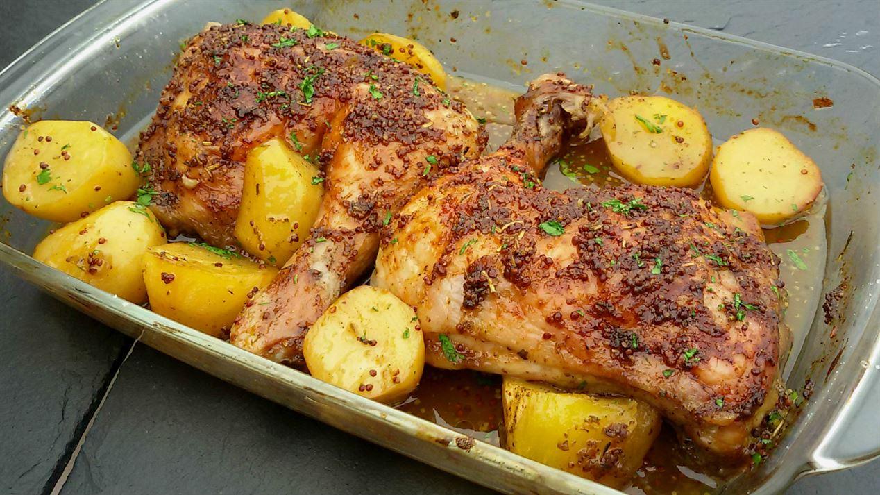 Pollo asado con miel y mostaza anna recetas f ciles for Platos faciles de cocinar