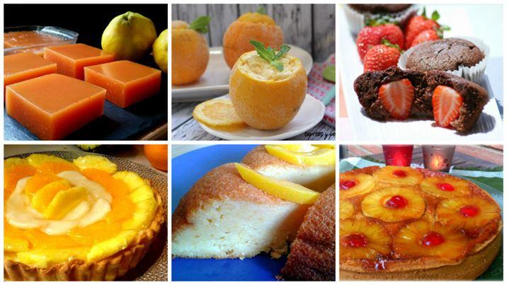 6 postres espectaculares con frutas