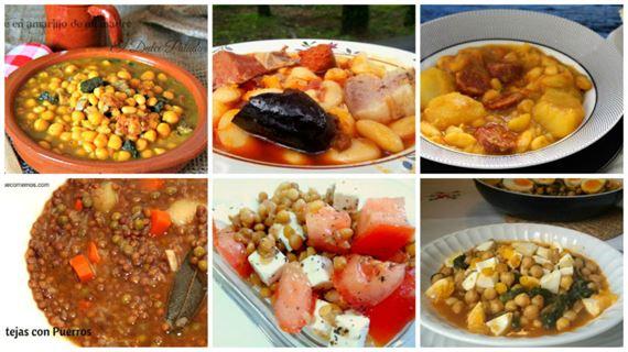 Resultado de imagen de recetas con legumbres