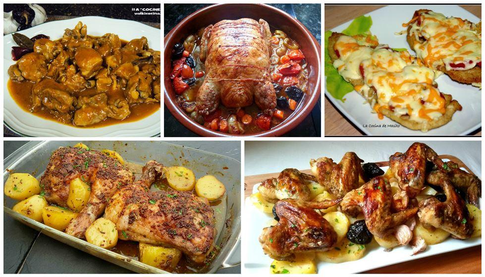 5 recetas de pollo para impresionar.