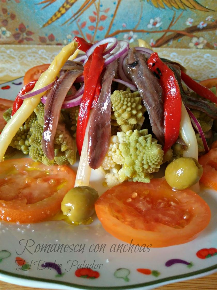 Romanescu con anchoas