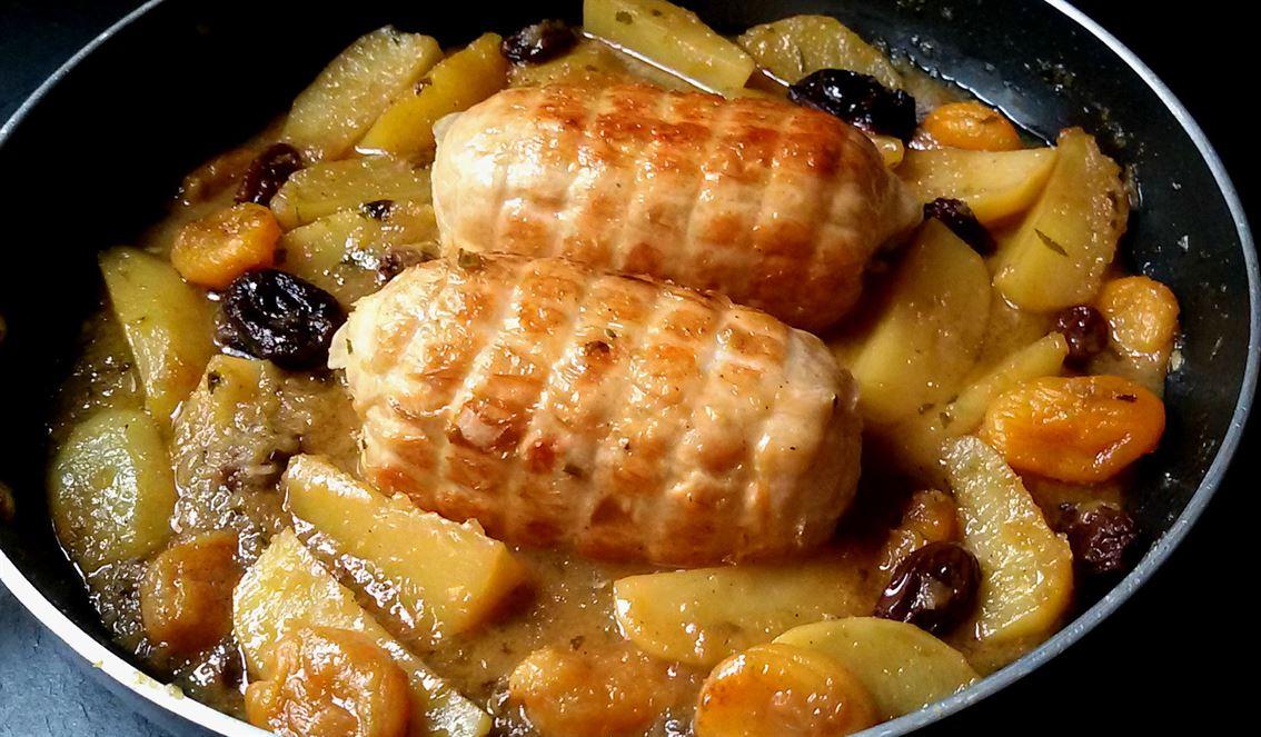 Rotti de pollo con patatas y frutos secos anna recetas - Platos de pollo faciles ...