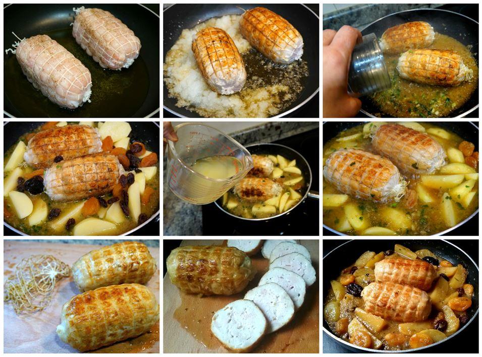 redondo de pavo al horno con patatas
