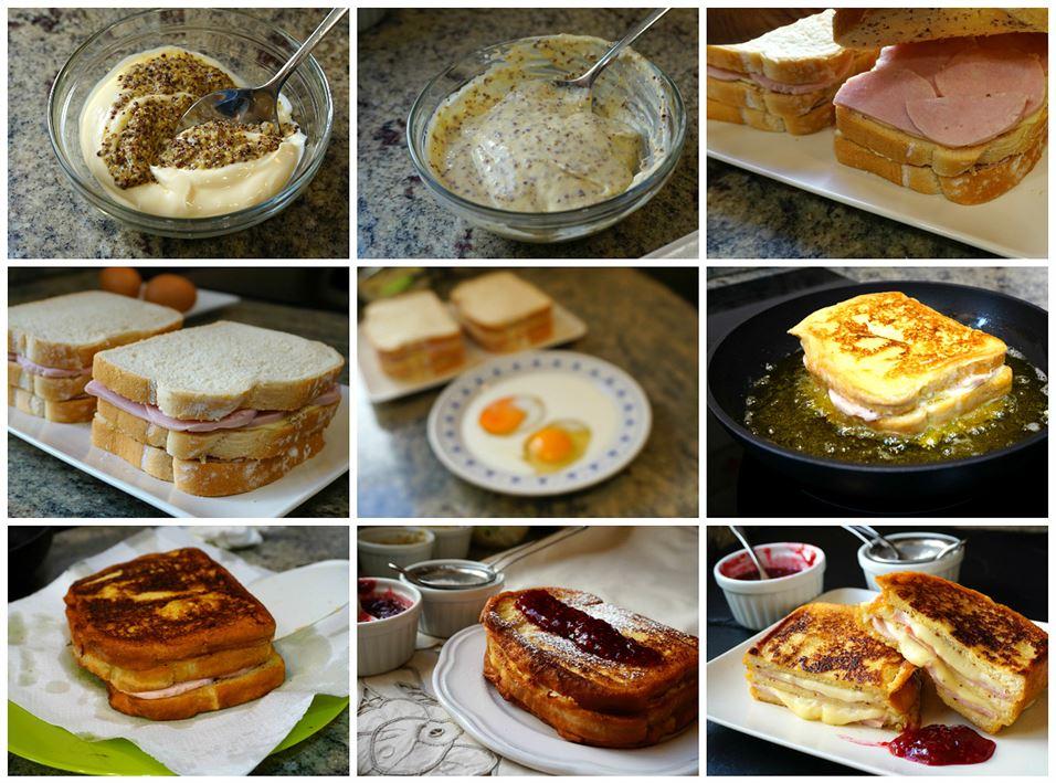 Preparación del sándwich Montecristo