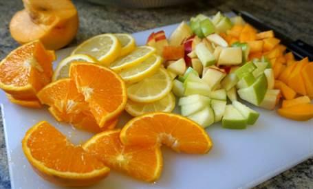 Fruta para preparar sangría