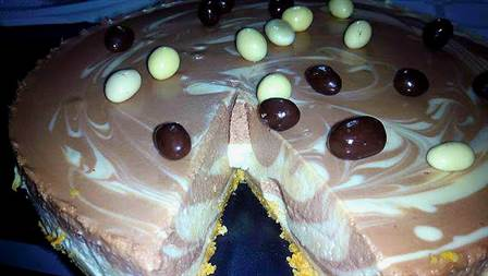 Tarta de chocolate y Bayleys